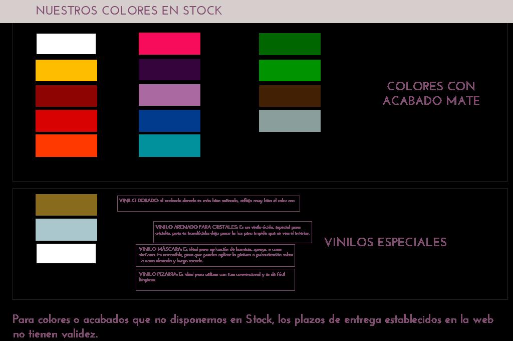 colores en stock