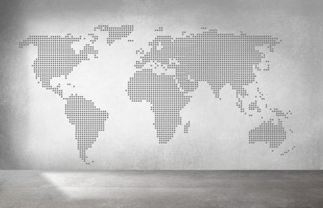vinilo mapa mundi circulos gris