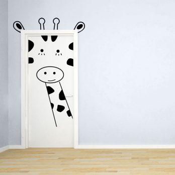 vinilo puerta infantil jirafa 2