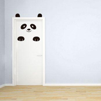 vinilo puerta infantil oso panda 2