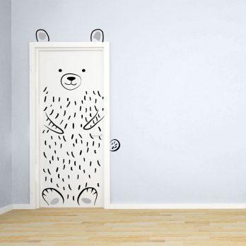 vinilo puerta infantil oso 2