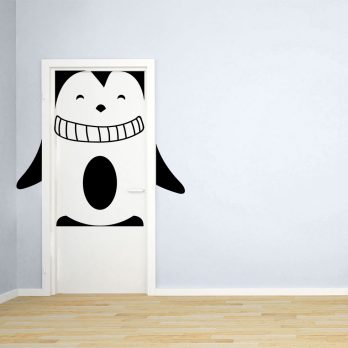 vinilo puerta infantil pinguino2