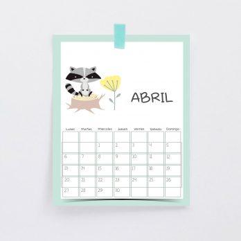 Calendario web abril