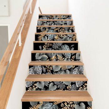 vinilo escaleras hojas