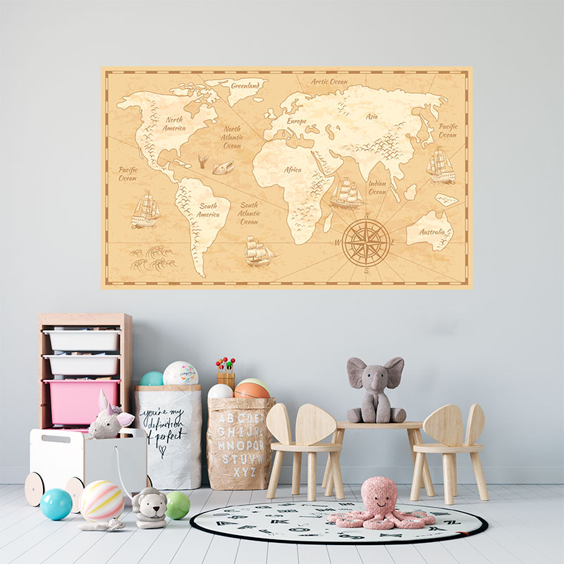 Mapa-mundi-vintage