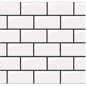 azulejo tipo metro negro