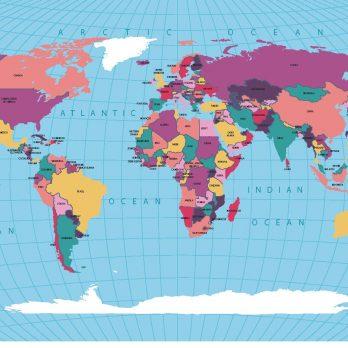 mapamundi politico azul