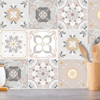 Vinilo azulejos hidráulicos para cocina modelo ALBA
