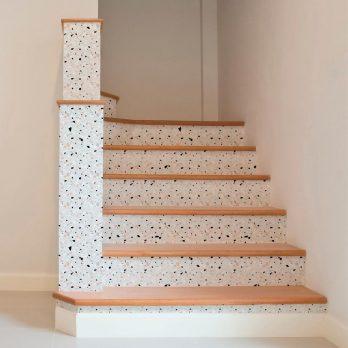 Vinilo terrazo escaleras