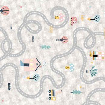 alfombra vinílica crazy road