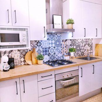 Vinilo hidráulico azulejo cocina