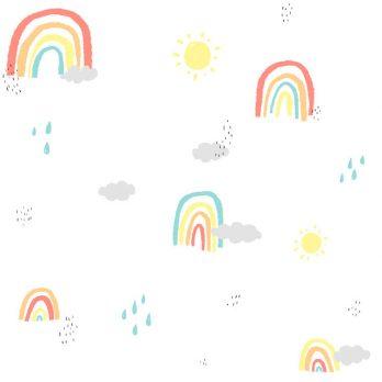 Papel autoadhesivo arcoíris