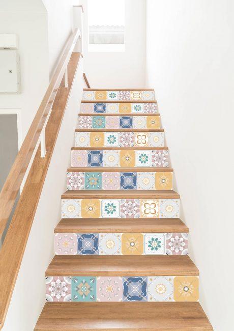 vinilo escaleras Alba colours