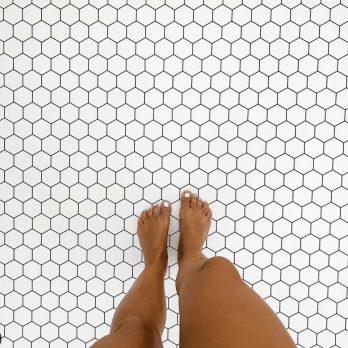 alfombra vinílica modelo colmena